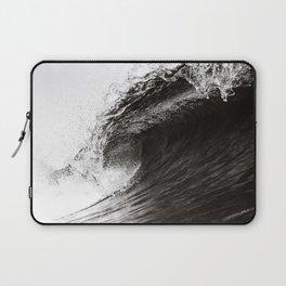 Big Wave, Black and White Art, Coastal Wall Art Laptop Sleeve