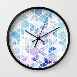 Geometric Triangle Pattern Wall Clock