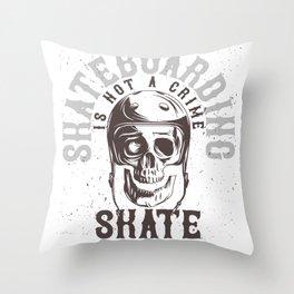 Skate or Die Helmet Throw Pillow