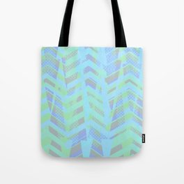 Seaside Chevron Tote Bag