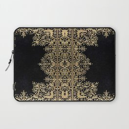 Black and Gold Filigree Laptop Sleeve