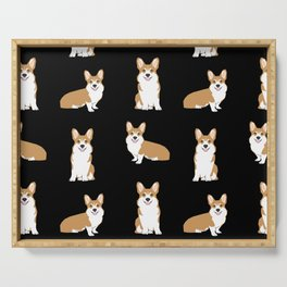 Corgis - Cute corgi, dog pet, corgi decor, corgi pillow, corgi bedding, corgi pattern, cute corgi Serving Tray