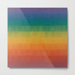 Colorful Grunge Texture Pattern Seamless Abstract Rainbow Multi Colored Illustration Metal Print