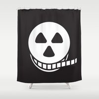 horror Shower Curtains featuring Horror Film by Stuart Colebrook