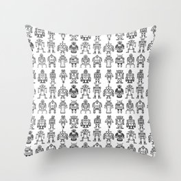 Robots 1 Throw Pillow