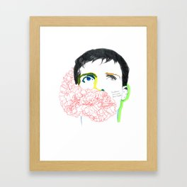 ian curtis Framed Art Print