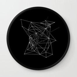 Black Geometric Dots and Lines Wall Clock