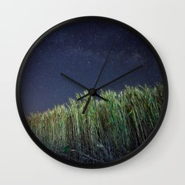 Wheat Field Planetarium Wall Clock
