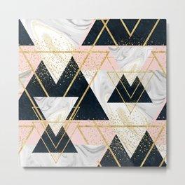 Elegant geometric and confetti golden design Metal Print