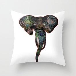 Elephant Web Head 1 Throw Pillow