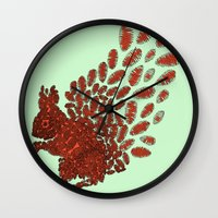 squirrel Wall Clocks featuring Squirrel by Julia Kisselmann