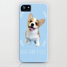 Corgi  hugs and kisses Slim Case iPhone SE