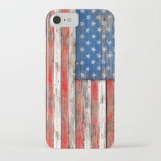 USA Vintage Wood iPhone 7 Slim Case