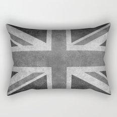 Union Jack Vintage retro style B&W 3:5 Rectangular Pillow