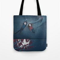 constellations Tote Bags featuring Constellations by Ramona Treffers