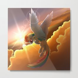 Rainbow dash MLP Metal Print