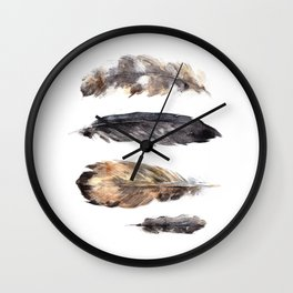 Feathers study Wall Clock