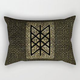 Web of Wyrd  -The Matrix of Fate Rectangular Pillow