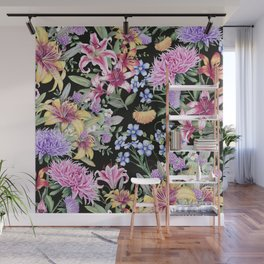 FLORAL GARDEN 3 #floral #flowers #vintage Wall Mural