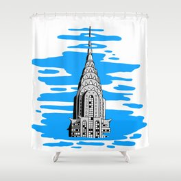 Shine like the top of the Chrysler Building! Shower Curtain