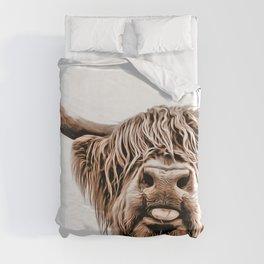 Funny Higland Cattle Duvet Cover