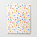 Livin' It - abstract pattern minimal modern primary colors pantone gender neutral retro throwback by wacka
