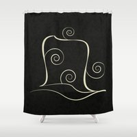 snail Shower Curtains featuring Snail by Display Dezign