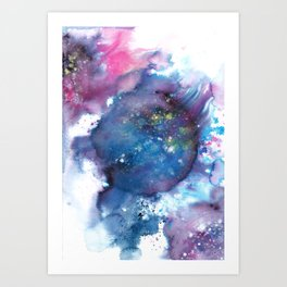 Blue Abstract Art Painting Art Print