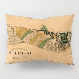 Map Of Molokai 1897 Pillow Sham