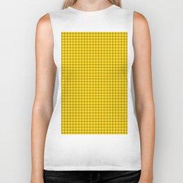 Yellow Grid Black Line Biker Tank