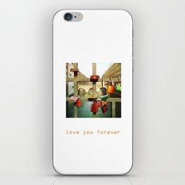 Love you forver iPhone Skin