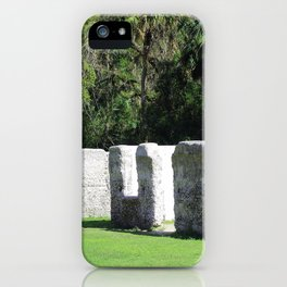 Kingsley Plantation Slave Cabins iPhone Case