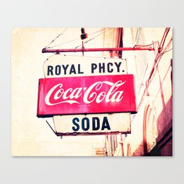Royal Pharmacy Vintage Sign - New Orleans Canvas Print