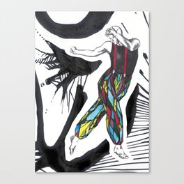 Stained glass dancer Canvas Print