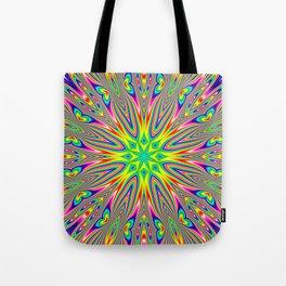 Psychedelic Rainbow Kaleidoscope Tote Bag