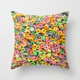 204 - Fruit loops and Marshmallows Throw Pillow