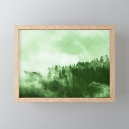 Clear away the fog to see the light. Green Framed Mini Art Print