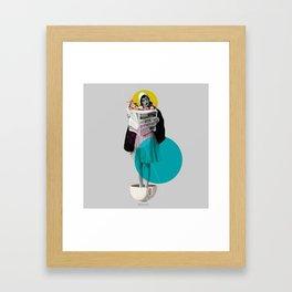 news int the morning Framed Art Print