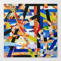January (stripes 6) Canvas Print