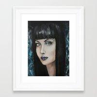 goth Framed Art Prints featuring Goth by Giulia Lauren