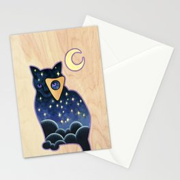 Ouija Cat Stationery Cards