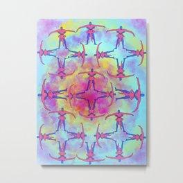 Tie Dye Tantric Metal Print