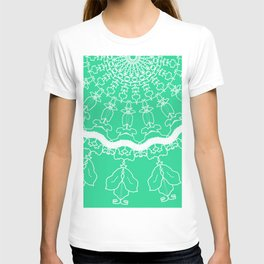 Green with Lace dreamcatcher design T-shirt