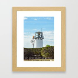 Chatham Light - Cape Cod - Massachusetts Framed Art Print