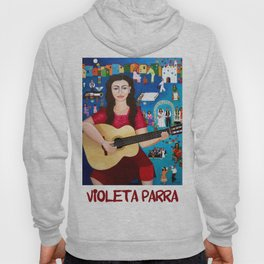Violeta Parra playing guitar Hoody