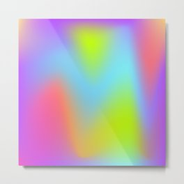 Rainbow gradient foil effect Metal Print