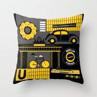 berlin Throw Pillows featuring Berlin by koivo