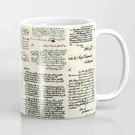 George Washington's Letters // Parchment Coffee Mug