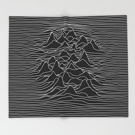 Black and white illustration - sound wave graphic Throw Blanket