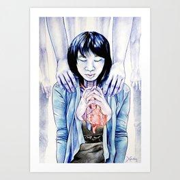 Choked Blue Art Print